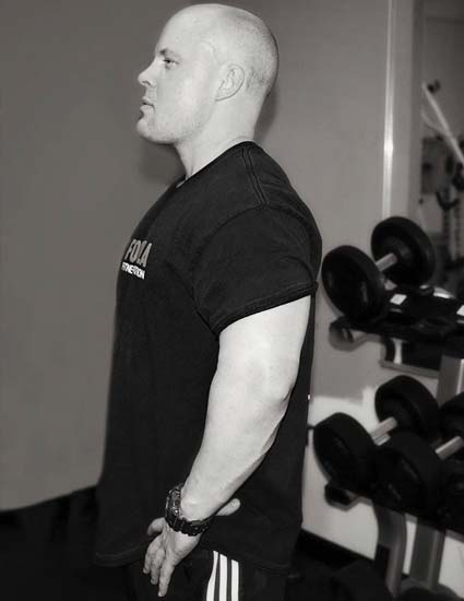 Troy Colton of Formula Fitness working out at the gym