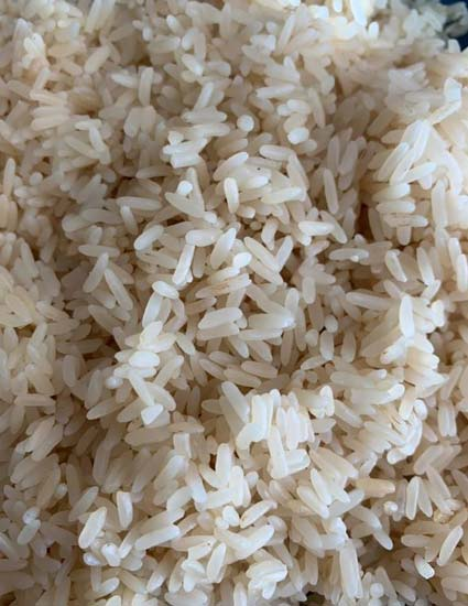 Close up of whole grain rice